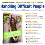 Dealing With Difficult People PLR