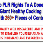 Healthy Cooking PLR Content Pack