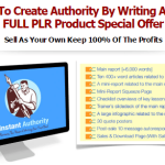Instant Authority Writing A Book PLR