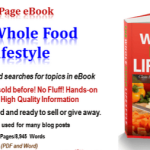 Whole Food And Juicing PLR Pack