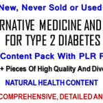 Alternative Medicine And Diet For Type 2 Diabetes PLR