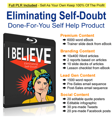 Eliminate Self Doubt PLR